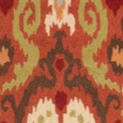 Safavieh Hand-hooked Chelsea Rust Wool Rug (5'3 x 8'3) - Thumbnail 2