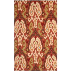Safavieh Hand-hooked Chelsea Rust Wool Rug - 7'6 x 9'9 - Thumbnail 0