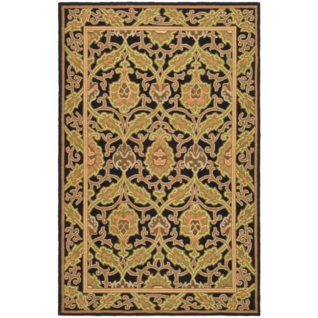 Safavieh Hand-hooked Chelsea Black Wool Rug - 7'6 x 9'9