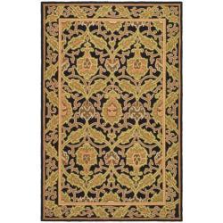 Safavieh Hand-hooked Chelsea Black Wool Rug (8'9 x 11'9)