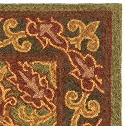 Safavieh Contemporary Hand-Hooked Chelsea Green Wool Rug (3'9 x 5'9) - Thumbnail 1