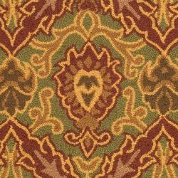 Safavieh Contemporary Hand-Hooked Chelsea Green Wool Rug (3'9 x 5'9) - Thumbnail 2