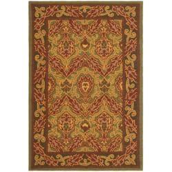 Safavieh Hand-hooked Chelsea Green Wool Rug (7'6 x 9'9)