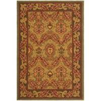 Safavieh Hand-hooked Chelsea Green Wool Rug - 7'6 x 9'9
