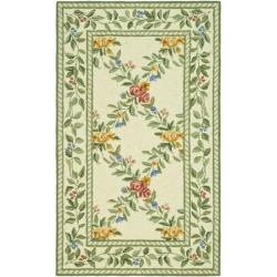 Safavieh Hand-hooked Garden Trellis Ivory Wool Rug (3'9 x 5'9)