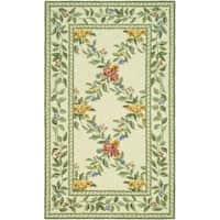 Safavieh Hand-hooked Garden Trellis Ivory Wool Rug - 3'9 x 5'9