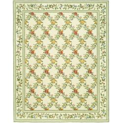 Safavieh Hand-hooked Garden Trellis Ivory Wool Rug (6' x 9')