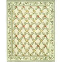 Safavieh Hand-hooked Garden Trellis Ivory Wool Rug - 6' x 9'