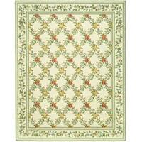 Safavieh Hand-hooked Garden Trellis Ivory Wool Rug - 8'9 X 11'9