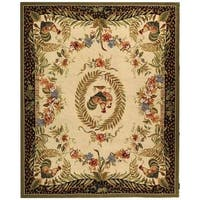 "Safavieh Hand-hooked Rooster and Hen Cream/ Black Wool Rug - 8'-9"" x 11'-9"""