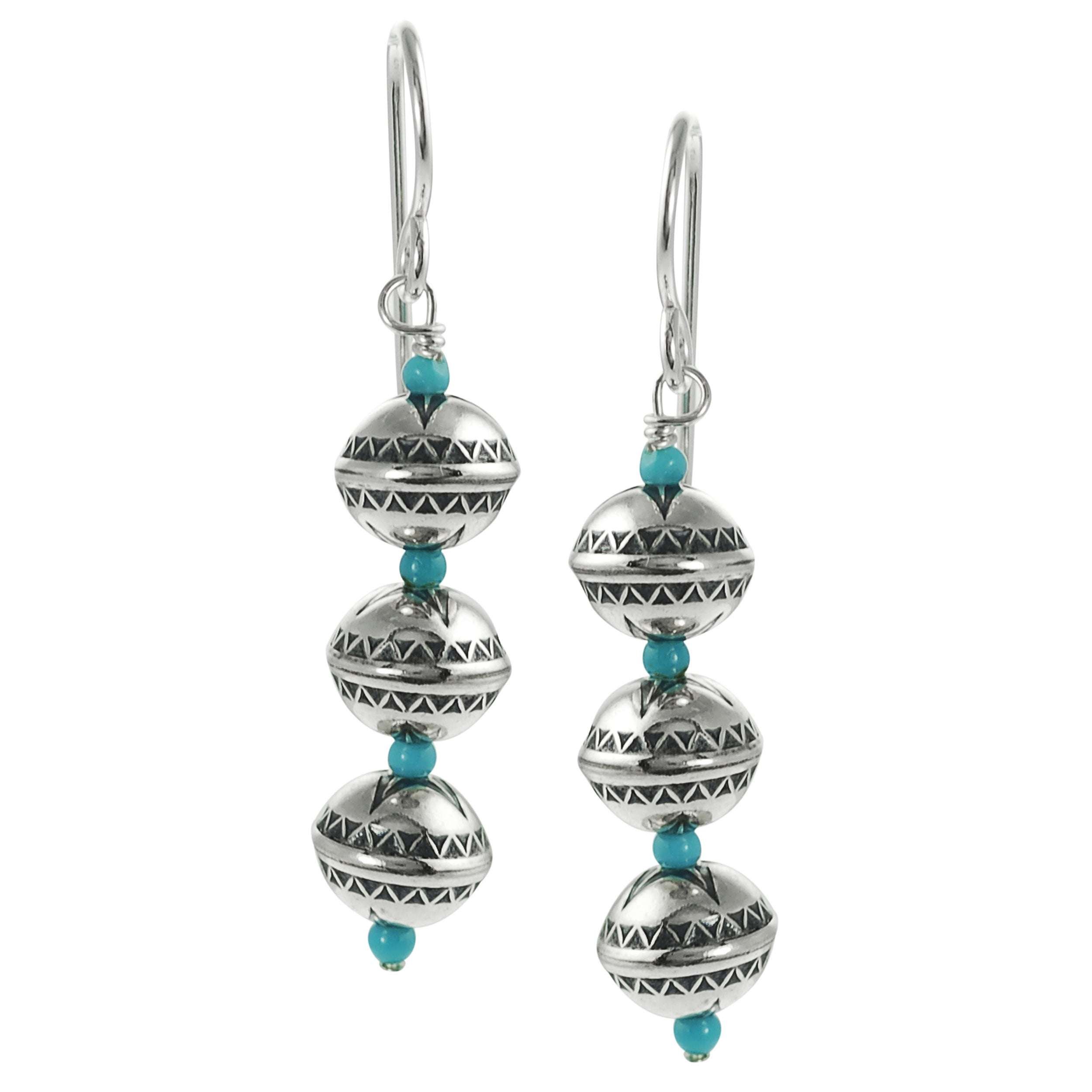 Journee Collection Sterling Silver Genuine Turquoise Earrings