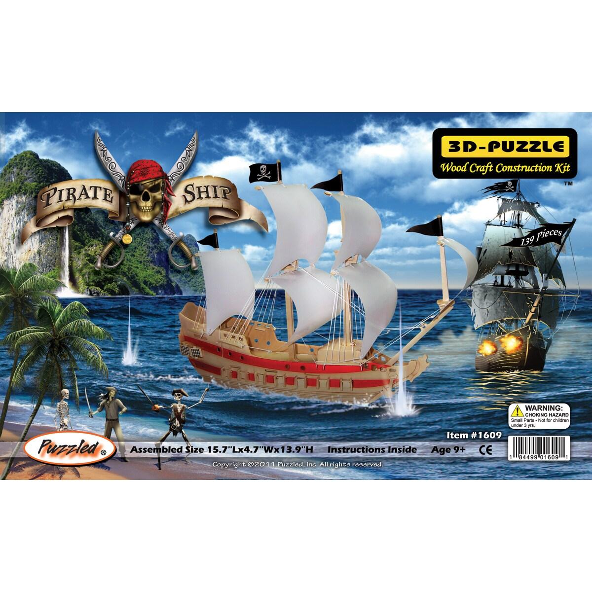 3D 139-piece Pirate Ship Jigsaw Puzzle