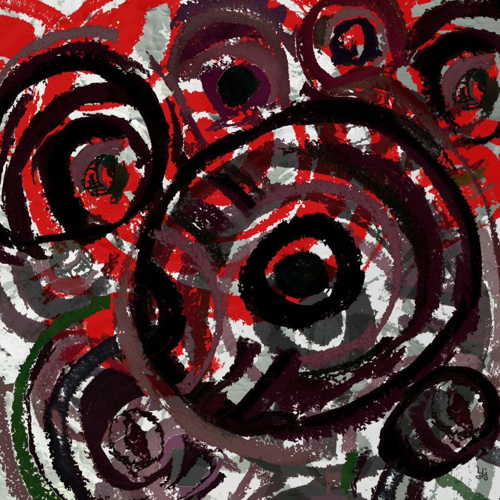 Ankan 'Stamped Circles 1' Gallery-wrapped Canvas Art