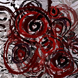 Ankan 'Stamped Circles 2' Gallery-wrapped Canvas Art