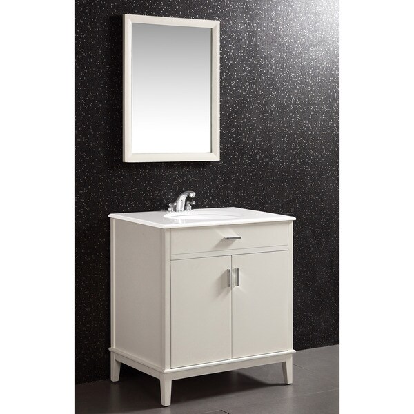 Shop Wyndenhall Oxford White 2 Door 30 Inch Bath Vanity Set With White Quartz Marble Top Free