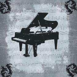 Ankan 'Piano' Large Gallery-Wrapped Canvas Art