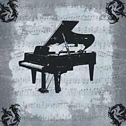Ankan 'Piano' Gallery-wrapped Canvas Art