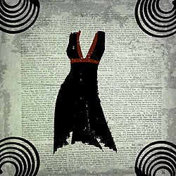 Ankan 'Dress on Paper 2' Gallery-wrapped Canvas Art