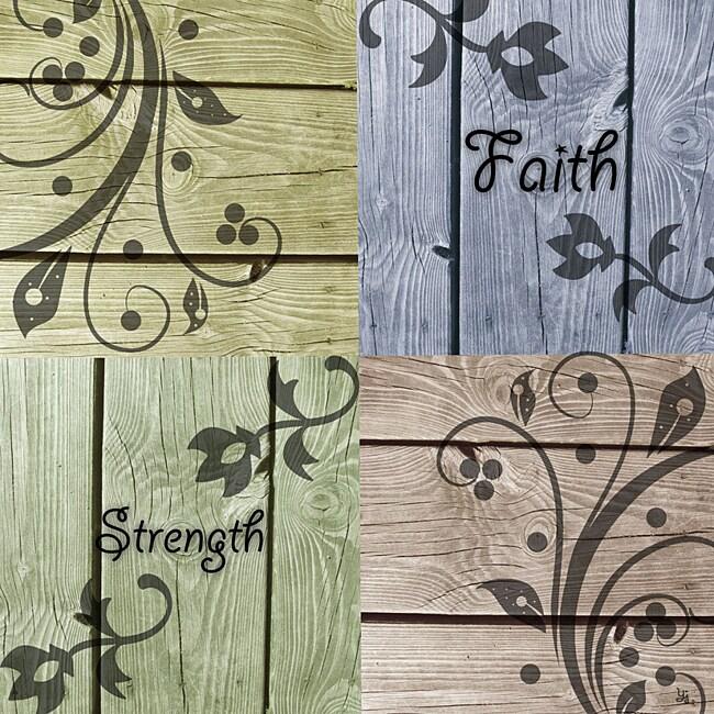 "Ankan 'Faith and Strength' Gallery-Wrapped 24"" x 24"" x 1.5"" Canvas Art"