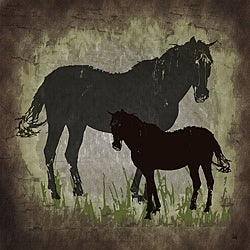 Ankan 'Vintage Horses' Gallery-wrapped Canvas Art