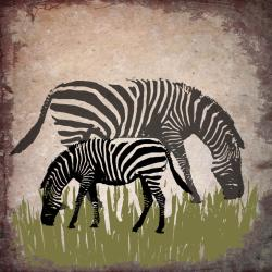 Ankan 'Vintage Zebras' Gallery-wrapped Canvas Art