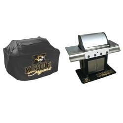 Missouri Tigers Grill Cover and Mat Set - Thumbnail 1