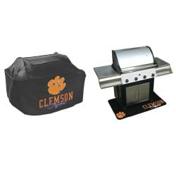 Clemson Tigers Grill Cover and Mat Set - Thumbnail 1