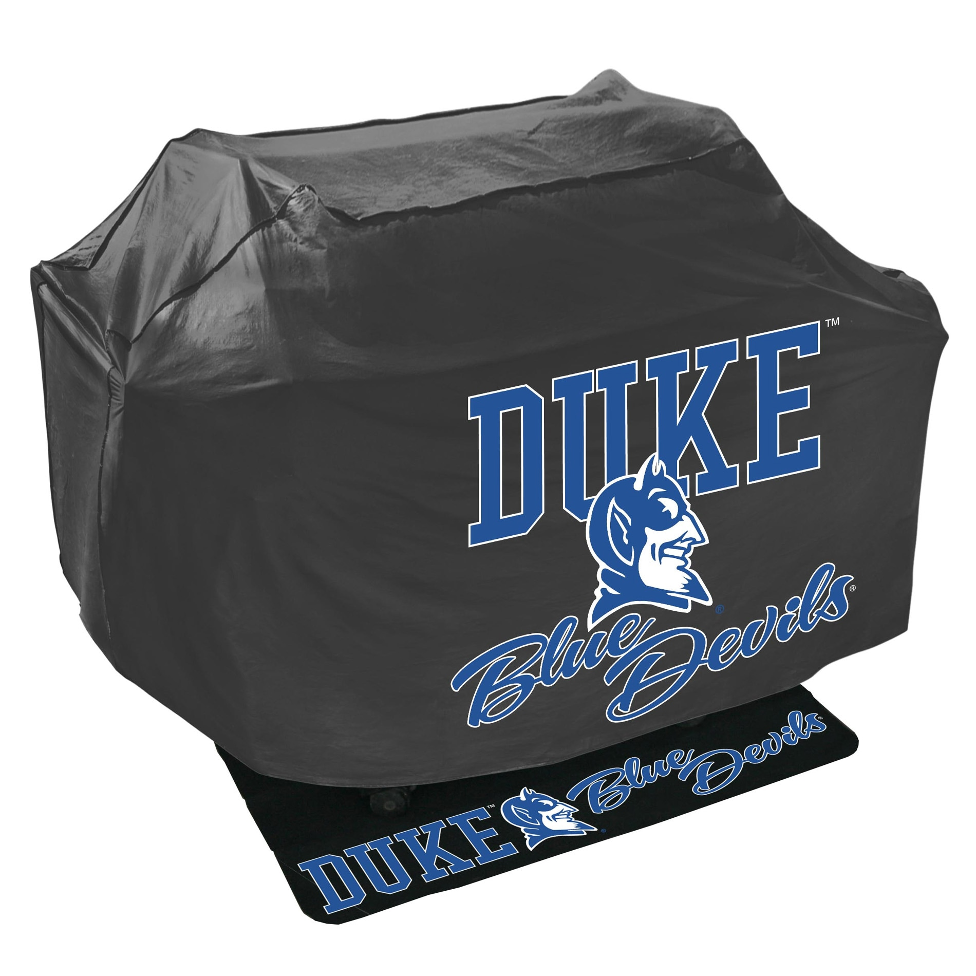 Duke Blue Devils Grill Cover and Mat Set