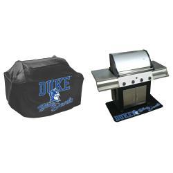 Duke Blue Devils Grill Cover and Mat Set - Thumbnail 1