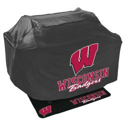 Wisconsin Badgers Grill Cover and Mat Set - Thumbnail 0