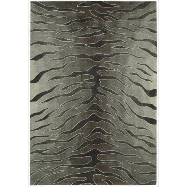 Nourison Hand-tufted Contours Animal Print Silver Rug - 7'3 x 9'3