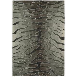 Nourison Hand-tufted Contours Animal Print Silver Rug (7'3 x 9'3)