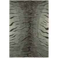 Nourison Hand-tufted Contours Animal Print Silver Rug - 7'3 x 9'3