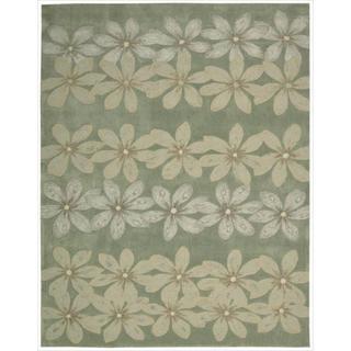 Nourison Hand-tufted Contours Floral Sage Rug (7'3 x 9'3)