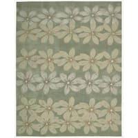 Nourison Hand-tufted Contours Floral Sage Rug - 7'3 x 9'3