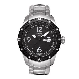 Tissot Men's Stainless Steel Black Dial Watch|https://ak1.ostkcdn.com/images/products/6963043/P14477389.jpeg?impolicy=medium
