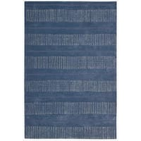 Nourison Hand-tufted Contours Striped Denim Rug - 5' x 7'6