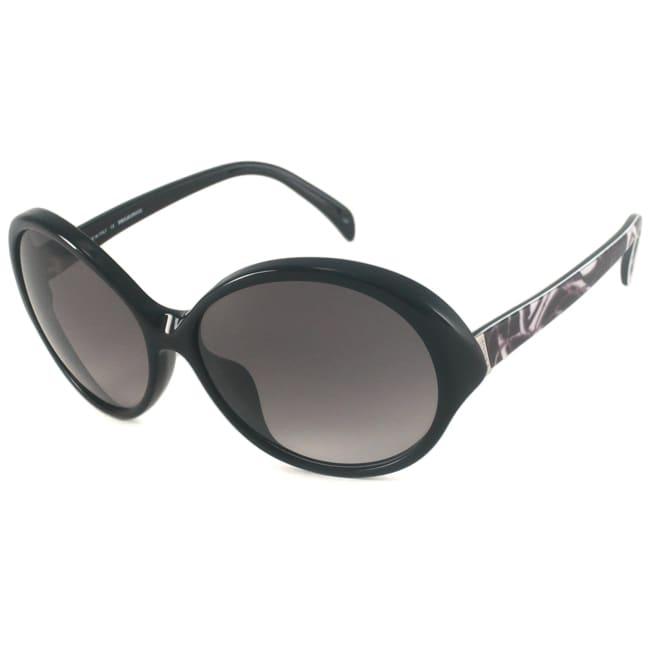 Emilio Pucci Women's EP672S Black-and-Gray Oval Sunglasses