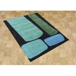 Metro Handmade Jet Black Wool Rug (8' x 10')