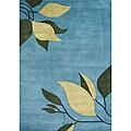 Alliyah Handmade Alaskan Blue New Zeeland Blend Wool Rug - 5' x 8'