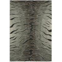 Nourison Hand-tufted Contours Animal Print Silver Rug - 5' x 7'6