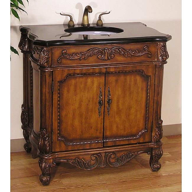Legion Furniture Traditional Style 36 Inch Granite Top Single Sink Bathroom Vanity Free
