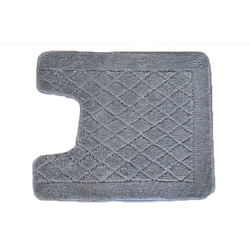 Solid Grey Memory Foam Contour Bath Mat