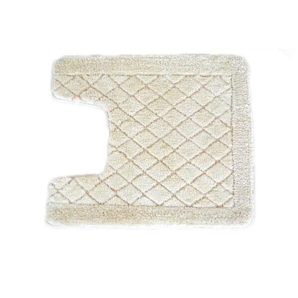 Solid Ivory Memory Foam Contour Mat