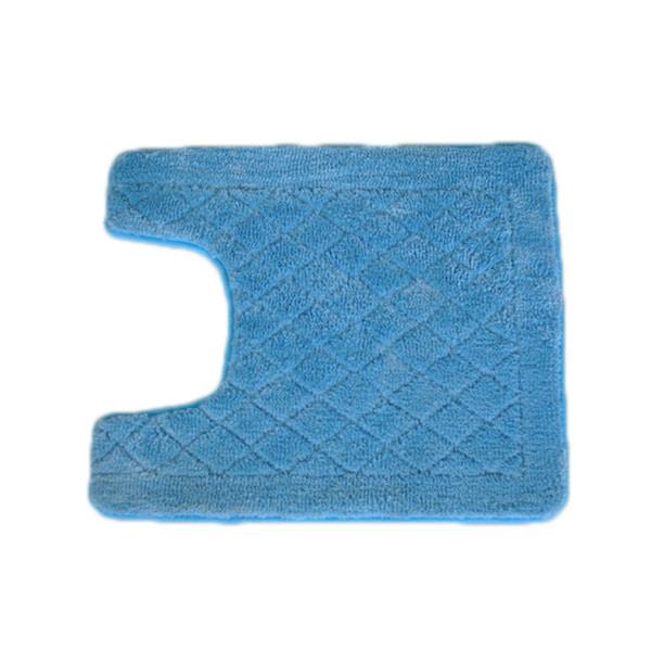 Solid Light Blue Memory Foam Contour Bath Mat