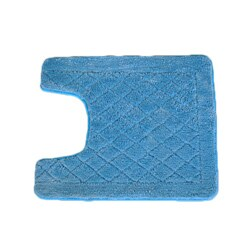 Solid Light Blue Memory Foam Contour Bath Mat