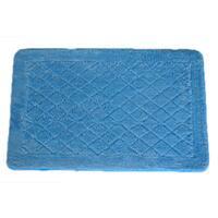 Solid Light Blue Memory Foam 20x32 Bath Mat