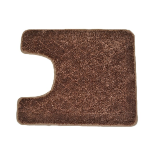 Solid Brown Memory Foam Contour Bath Mat