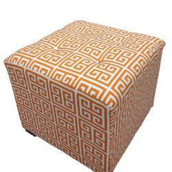 Amelia Chain Square Tufted Ottoman - Thumbnail 1