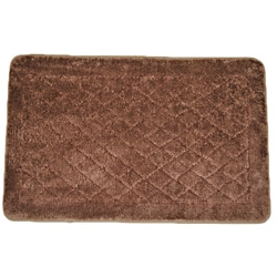 Solid Brown Memory Foam  20 x 32 Bath Mat